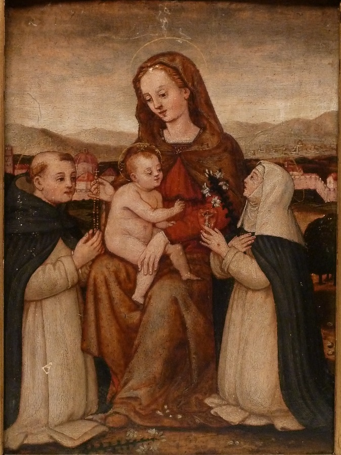 Madonna and Child with Sts Dominic and Catherine of Siena