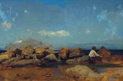 Meeresküste mit Monte Pellegrino bei Palermo