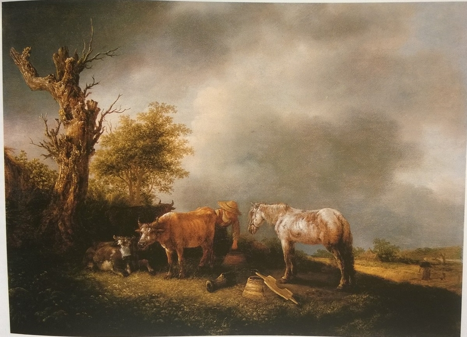 Milkmaid with Cows and a Horse