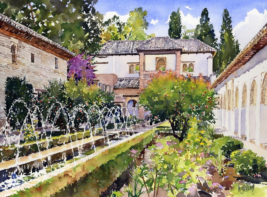 Patio de la Acequia, Generalife, Granada