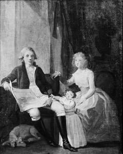 Peder Anker med hustru og datter