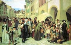 Pestalozzi et les orphelins unterwaldois à Morat