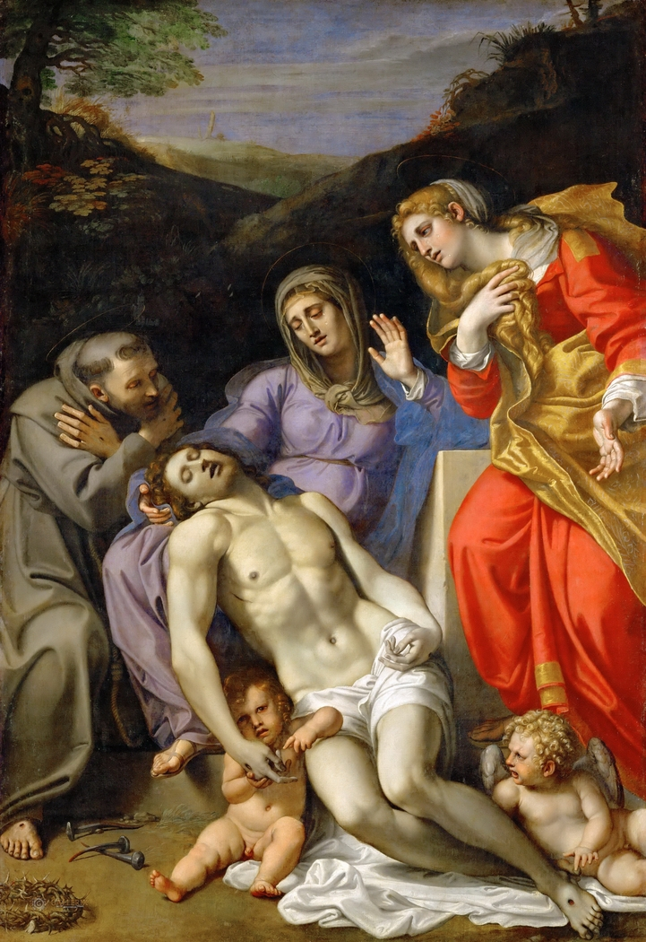 Pietà with Sts. Francis and Mary Magdalen