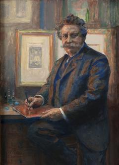 Portrait de Charles Albert Waltner dans son atelier