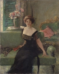 Portrait of a Lady in Black (Annie Traquair Lang)