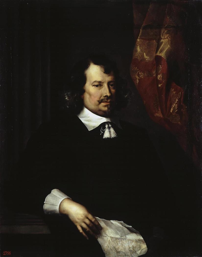 Portrait of a Man Holding a Letter