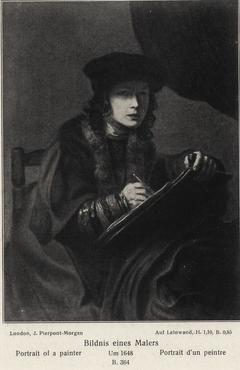 Portrait of a Painter with Long Curls