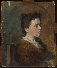 Portrait of a young woman, study