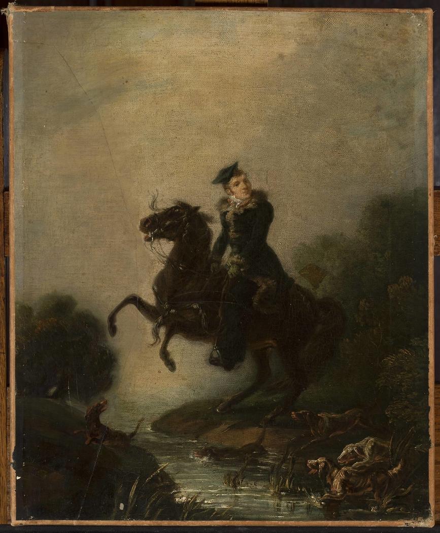 Portrait of Ignacy Konarski on horseback