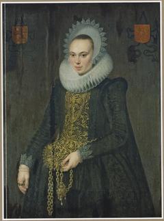 Portrait of Justina van Teylingen (1596-1643). wife of Jonkheer Adriaen de Kies van Wissen