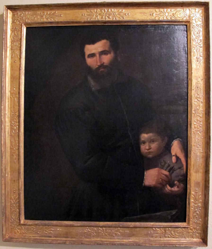 Portrait of the Surgeon Gian Giacomo Bonamigo with His Son Giovanni Antonio