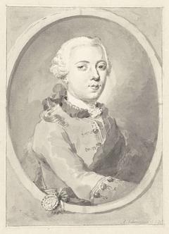 Portret van Willem V, Prins van Oranje-Nassau, naar rechts, in ovaal