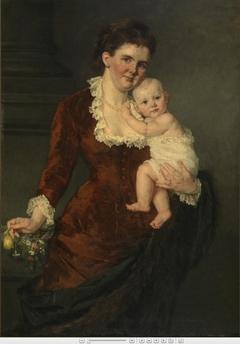 Queen Emma with Princess Wilhelmina on her arm