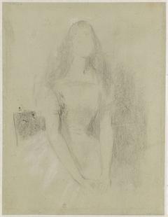 Schets voor een portret van een jonge vrouw