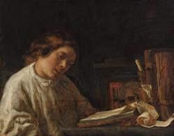 Self-portrait with a Vanitas Still Life