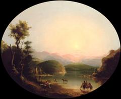 Shoshone Indians at a Mountain Lake (Lake Fremont)