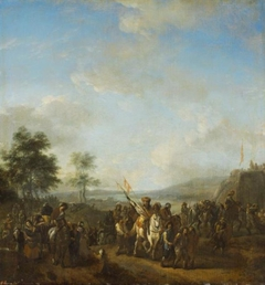 Soldiers with Prisoners in a Landscape