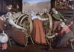 Spinning, warping and weaving