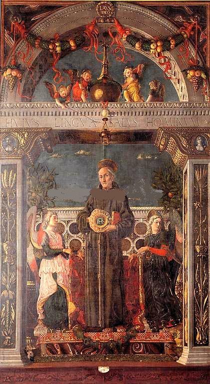 St. Bernardino of Siena between Two Angels