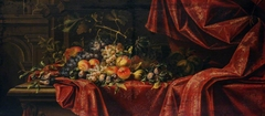 Still Life of Fruit on a Red Cloth