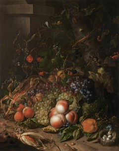 Still Life with Fruit, Bird's Nest and Insects