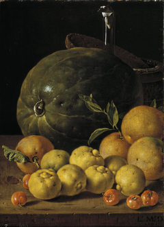 Still Life with Limes Oranges Haw Berries and Watermelon