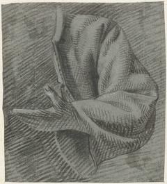 Studie van een mouw met een hand