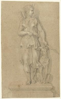 Studie voor een standbeeld van Diana