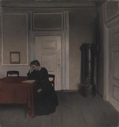 Stue i Strandgade med kunstnerens hustru