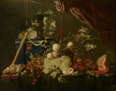 Sumptuous Fruit Still Life with Jewellery Box