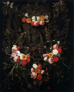 The Child Christ and St Theresa in a Flower Garland