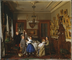 The Contest for the Bouquet: The Family of Robert Gordon in Their New York Dining-Room
