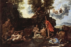 The Infant Bacchus Entrusted to the Nymphs of Nysa The Death of Echo and Narcissus