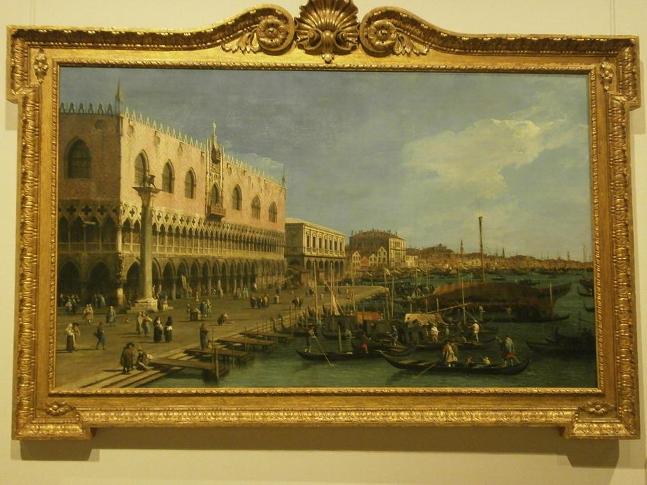 The Pier near Riva degli Schiavoni with the Column of San Marco