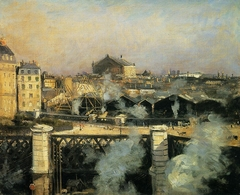 The Pont de l'Europe and the Gare Saint-Lazare with Scaffolding