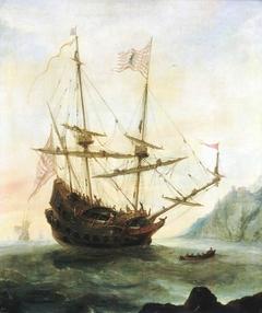The 'Santa Maria' at Anchor