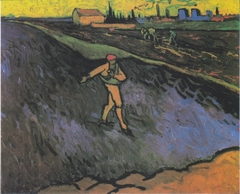 The Sower: Outskirts of Arles in the Background