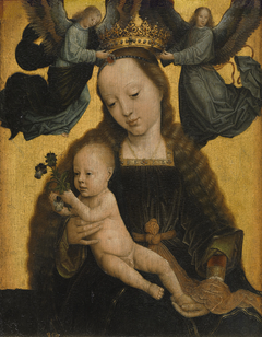 The Virgin and Child crowned by two Angels