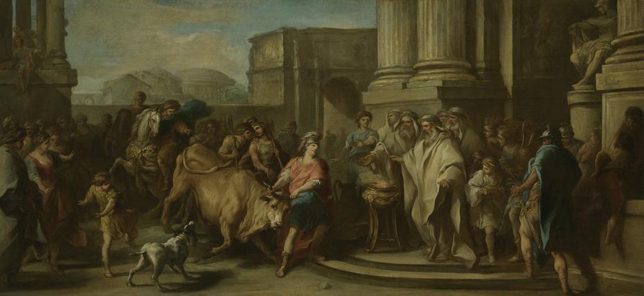 Theseus Taming the Bull of Marathon