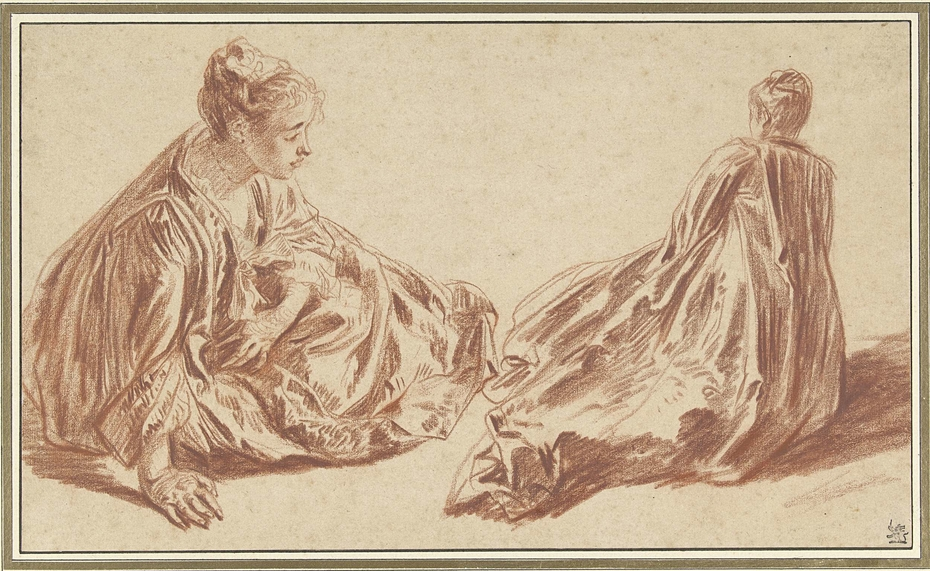 Two Studies of a Woman Seated on the Ground