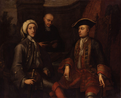 Unknown men, formerly known as John Montagu, 2nd Duke of Montagu, James O'Hara, 2nd Baron Tyrawley, and an unknown man