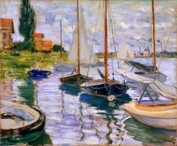Boats on the Seine in Genevilliers