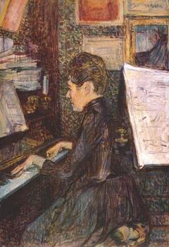 Mademoisele Dihau au Piano