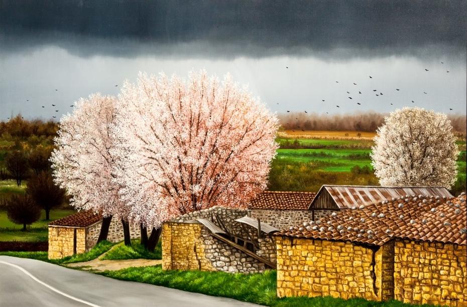 Αμυγδαλιές στην Αμφίκλεια / Almond trees in Amfiklia