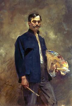 Portret własny z paletą