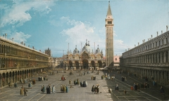 Venice: A View of Piazza San Marco looking East towards the Basilica