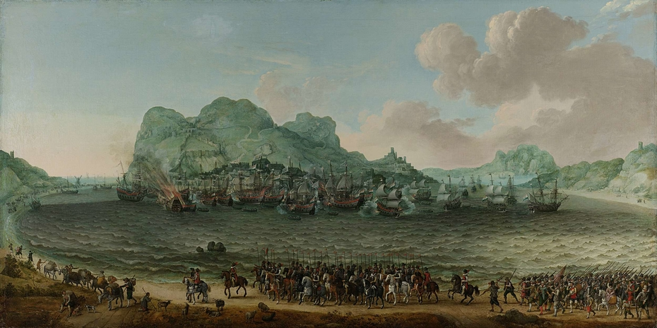 Victory over the Spanish near Gibraltar by a Fleet Commanded by Admiral Jacob van Heemskerck, 25 April 1607