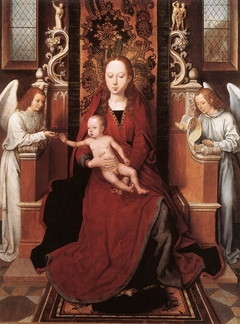 Virgin Enthroned with Child and Two Angels