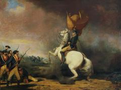 Washington Rallying the Americans at the Battle of Princeton