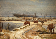 Watering the Cattle on a Winter's Day